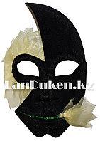 Венецианская карнавальная маска черно-желтая (24*16см)
