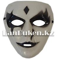 Венецианская карнавальная маска черно-белая (18*17см)