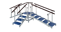 Модульная лестница «STEP» (взрослая)Вариант 3+5+ пандус