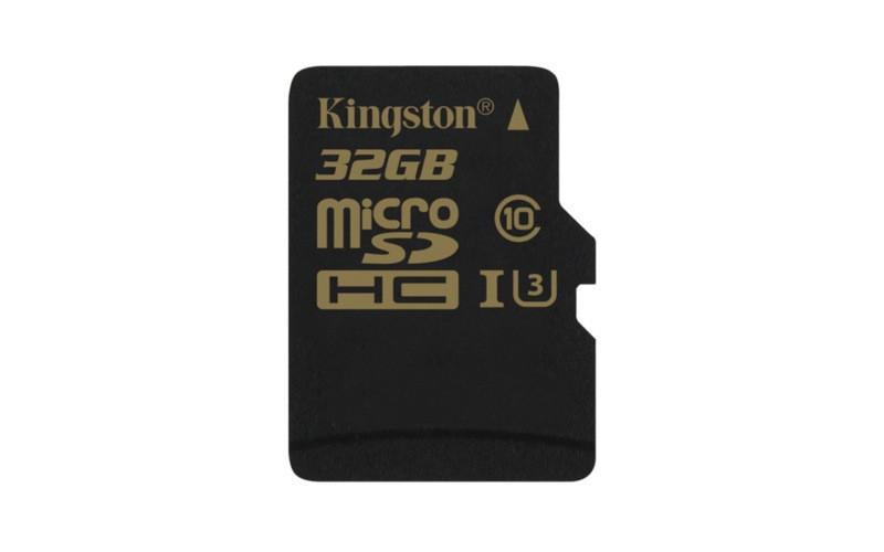 Карта памяти Kingston 32GB, SDCG/32GBSP, microSDHC Class U3 UHS-I 90R/45W Single Pack w/o Adapter
