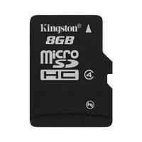 Карта памяти MicroSD Kingston 8Gb SDCHC SDC4/8GBSP