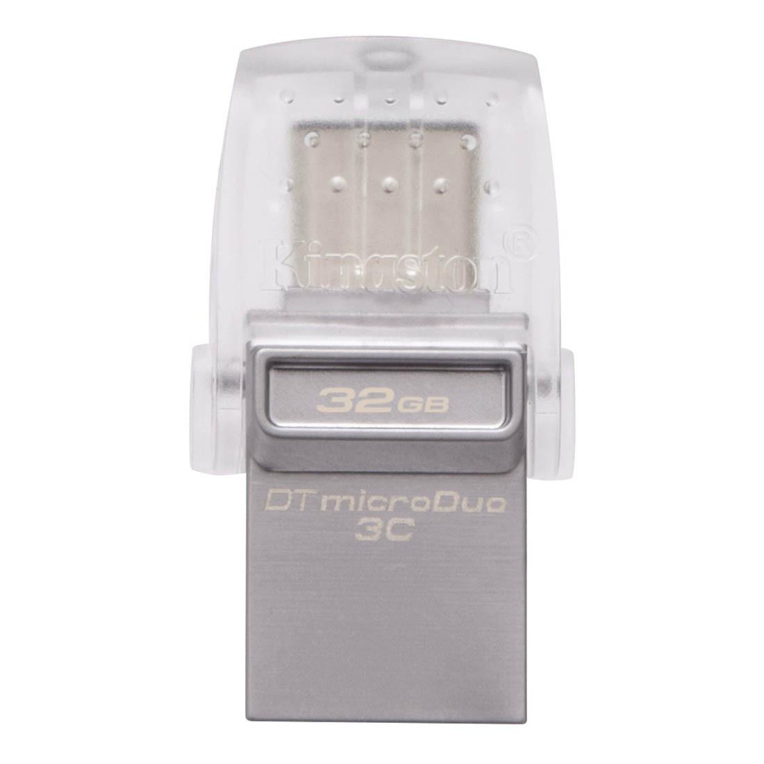 USB-флеш 3.0 Kingston OTG DTDUO3C/32GB (32Gb, Grey)