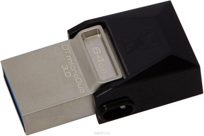 USB-флеш 3.0 Kingston OTG DTDUO3/64GB (64Gb, Black)
