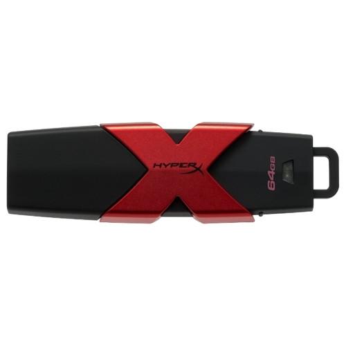 USB-флеш 3.1 Kingston HXS3/64GB (64Gb, Black)
