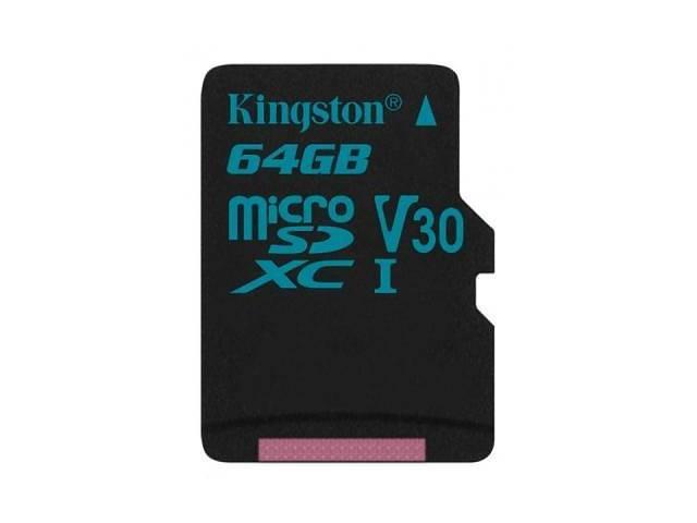 Карта памяти MicroSD 64GB Class 10 U3 Kingston SDCG2/64GB