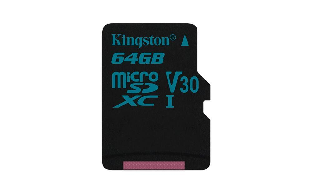 Карта памяти MicroSD 64GB Class 10 U3 Kingston SDCG2/64GBSP