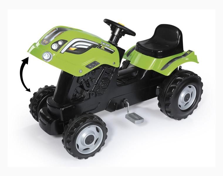 Трактор педальный Smoby XL с прицепом, зеленый - фото 2