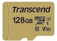 Карта памяти MicroSD 128GB Class 10 U3 Transcend TS128GUSD500S