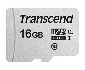 Карта памяти MicroSD 16GB Class 10 U1 Transcend TS16GUSD300S