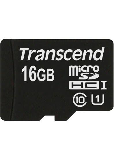 Карта памяти MicroSD 16GB Class 10 U1 Transcend TS16GUSDU1