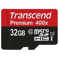 Карта памяти MicroSD 32GB Class 10 U1 Transcend TS32GUSDCU1