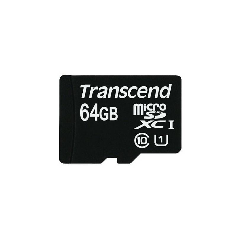 Карта памяти MicroSD 64GB Class 10 U1 Transcend TS64GUSDU1