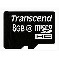 Карта памяти MicroSD 8GB Class 4 Transcend TS8GUSDC4