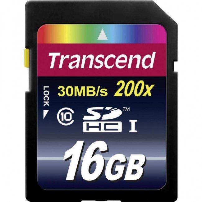 Карта памяти SD 16GB Class 10 Transcend TS16GSDHC10