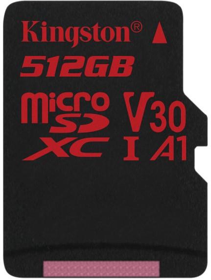 Карта памяти MicroSD 512GB Class 10 U3 A1 Kingston SDCR/512GB