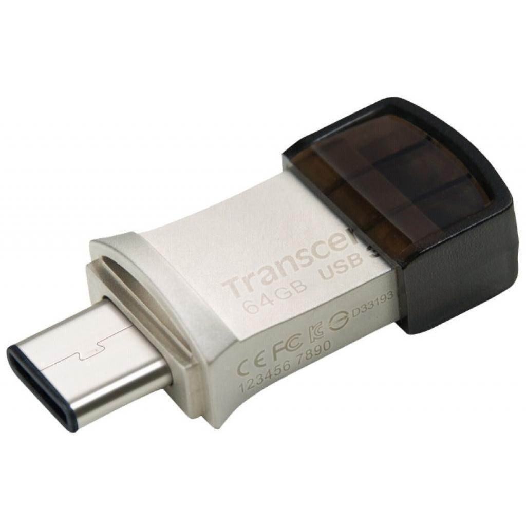 USB-флеш 3.0 Transcend TS64GJF890S (64Gb, Grey)