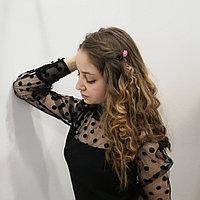 Блуза чёрная, верх сетка