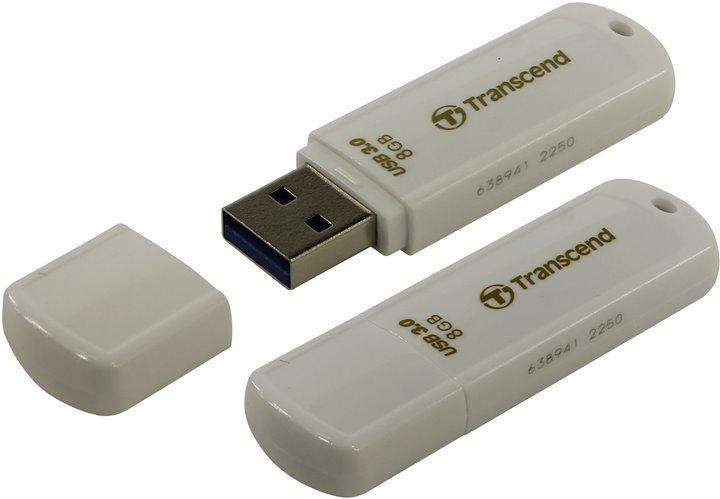 USB-флеш 3.0 Transcend TS8GJF730 (8Gb, White)