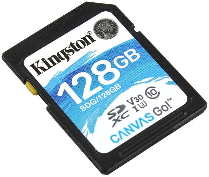 Карта памяти SD 128GB Class 10 U3 Kingston SDG/128GB