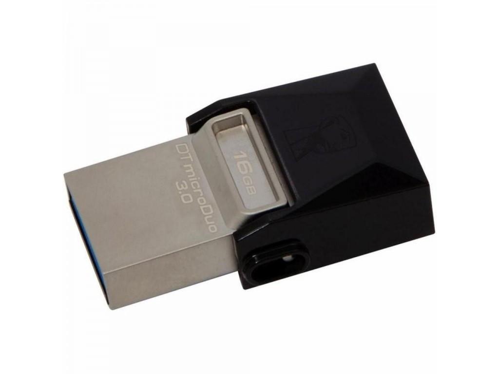 USB-флеш 3.0 Kingston OTG DTDUO3/16GB (16Gb, Black)