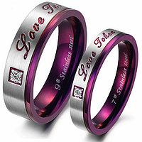 """Двойные кольца для влюбленных """"Фиолетовые чувства""""*, фото 1"""