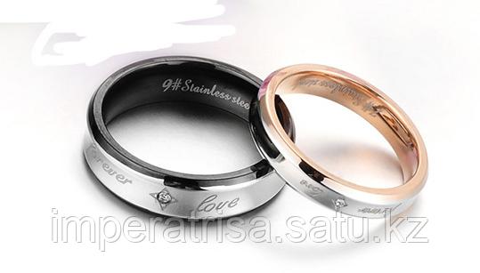 """Парные кольца для влюблённых """"Forever Love I""""*"""