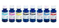 Комплект ультрахромных чернил INKSYSTEM для Epson R1800, 100 мл. (8 цветов)