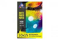 Матовая фотобумага INKSYSTEM 180g, 10x15, 100 л. для печати на Epson L1800