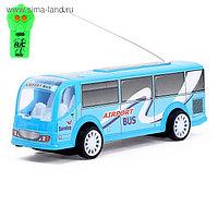 Автобус радиоуправляемый «Служба доставки», световые эффекты, работает от батареек, МИКС