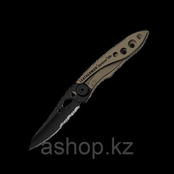 Нож складной Leatherman Skeletool KBX, Заточка: Комбинированная, Кол-во функций: 2 в 1, Цвет: Коричневый, (KBX