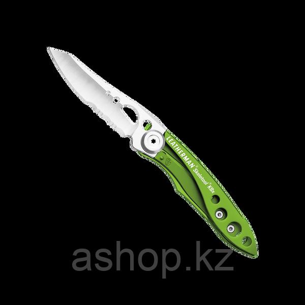 Нож складной Leatherman Skeletool KBX, Заточка: Комбинированная, Кол-во функций: 2 в 1, Цвет: Салатовый, (KBX)