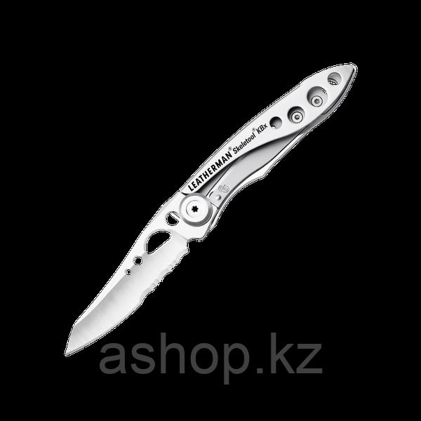 Нож складной Leatherman Skeletool KBX, Заточка: Комбинированная, Кол-во функций: 2 в 1, Цвет: Серебристый, (KB