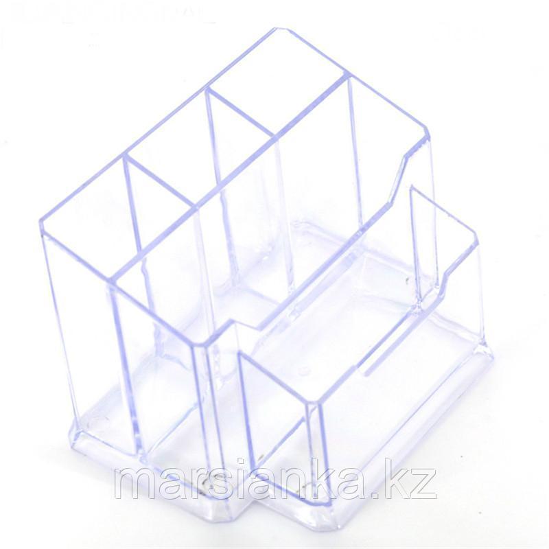 Подставка для кистей и пилок, прозрачная