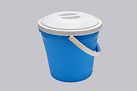 Ведро пластиковый 15л с крышкой