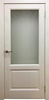 Межкомнатные двери модель Лира (слоновая кость) телескопический, телескопический, основа массив сосна, ЭКО шпон, матовое