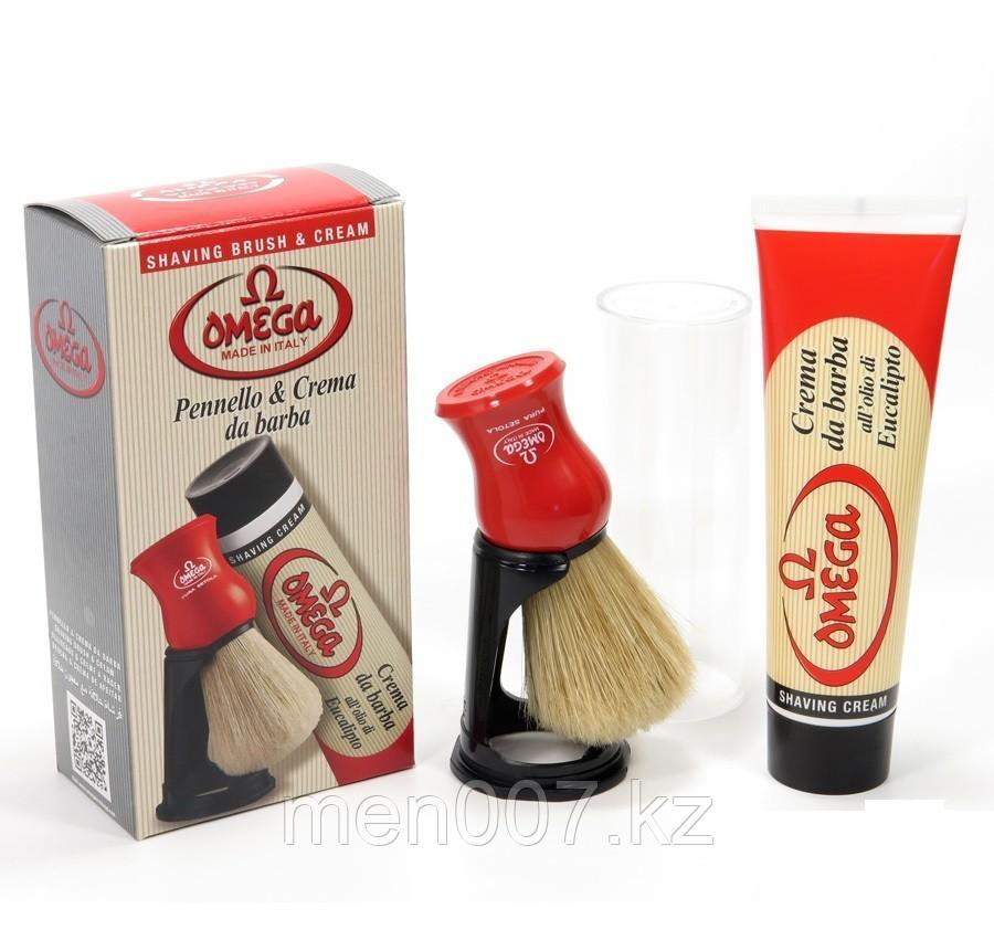 Набор OMEGA Италия (крем для бритья и помазок на подставке)