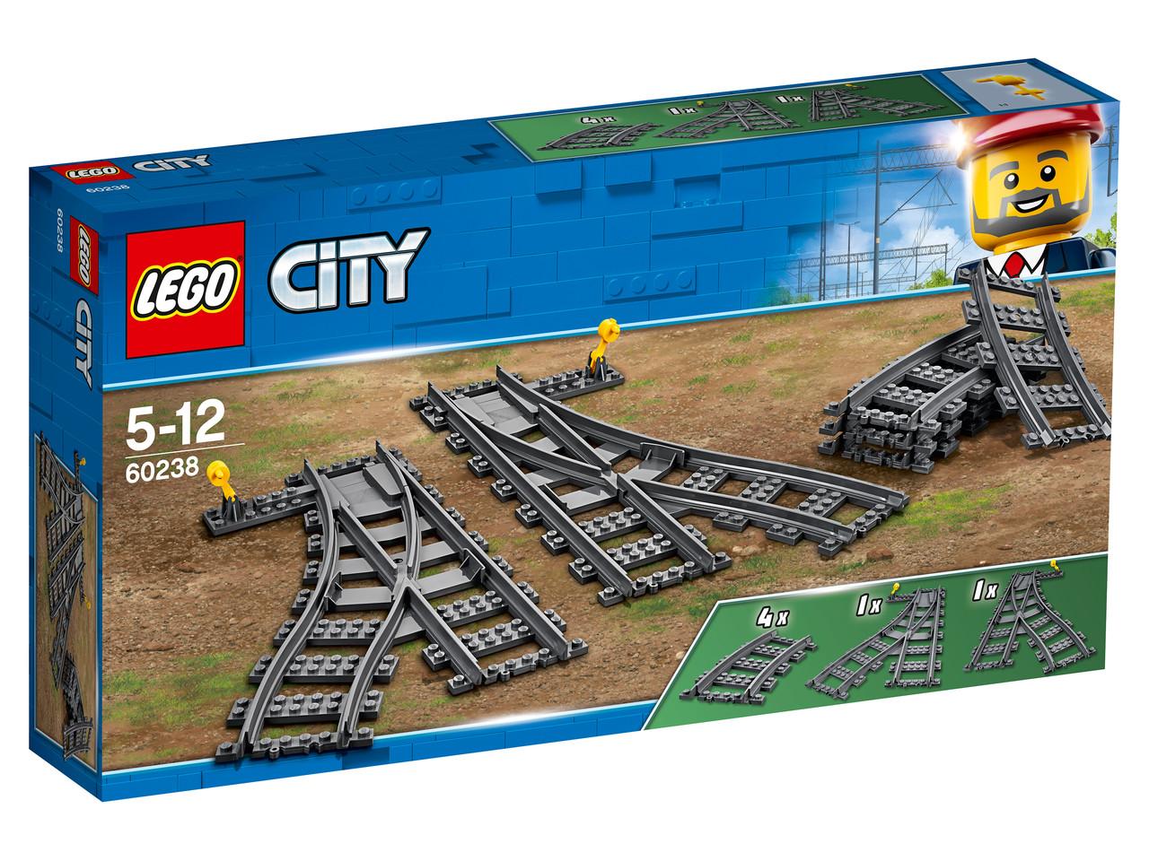 60238 Lego City Железнодорожные стрелки, Лего Город Сити