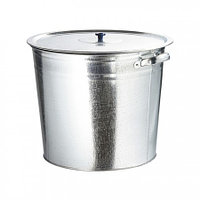 Бак для воды оцинкованный с крышкой (крышка с ручкой) 32 л, без крана. Россия