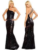 Новогоднее Элегантное длинное вечернее платье из мишуры