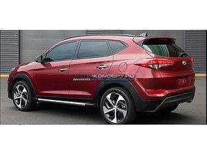 Пороги OEM Hyundai Tucson 2015 - н. в., Оригинал стиль