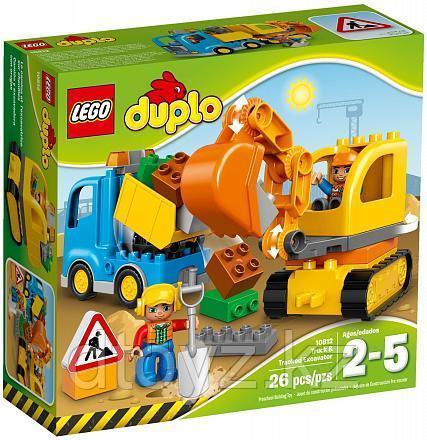 Lego Duplo 10812 Грузовик и гусеничный экскаватор Лего Дупло