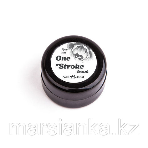 Арт-гель One Stroke Nail Best (белый), фото 2
