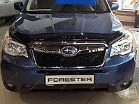 Мухобойка (дефлектор капота) на Subaru Forester/ Субару Форестер 2013-, фото 1