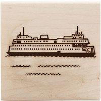 Штамп на деревянном блоке - FERRY (перевозчик)