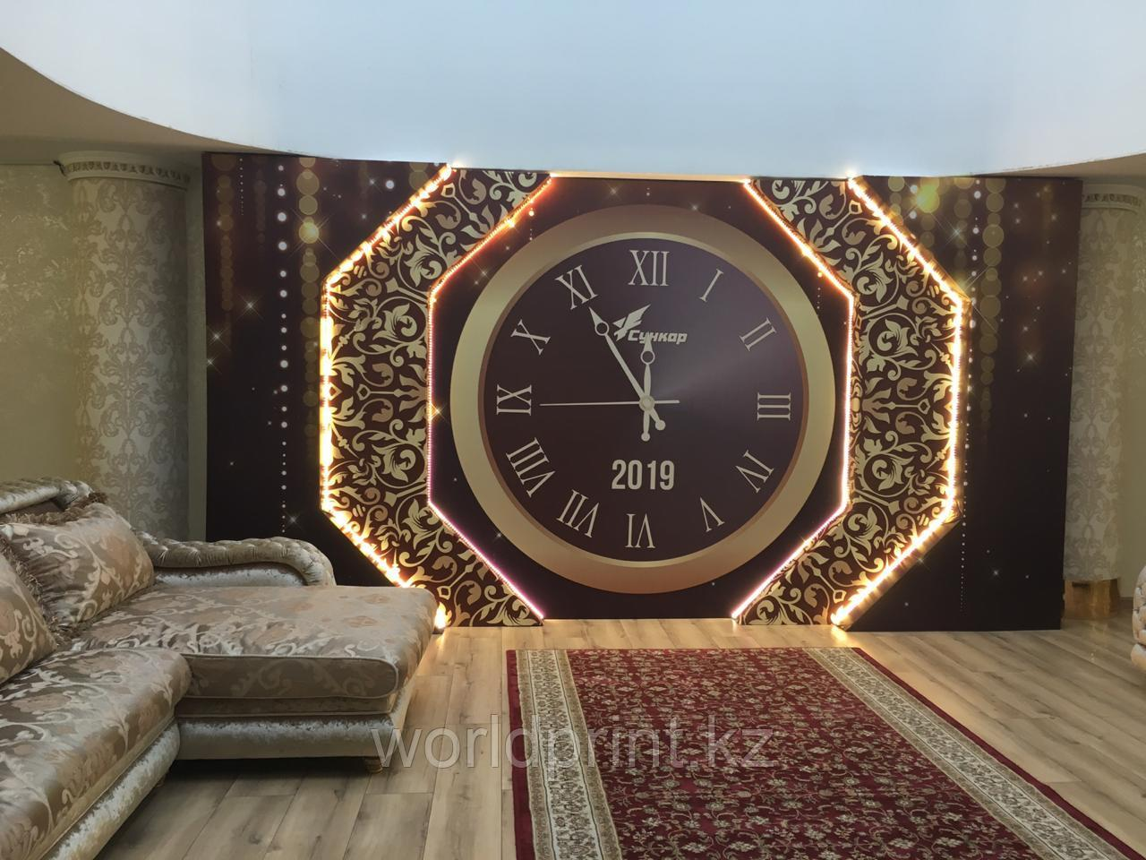 Оформление к новому году, часы
