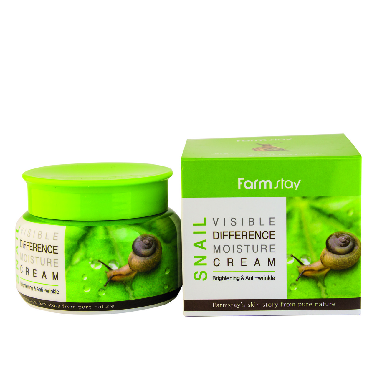 Увлажняющий крем со слизью улитки/FarmStay Visible Difference Moisture Cream Snail