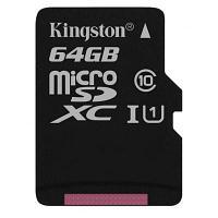 Карта памяти MicroSD 64GB Class 10 U1 Kingston SDCS/64GBSP