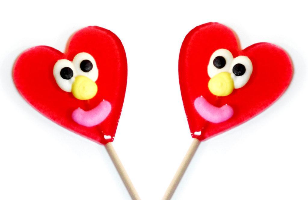 Леденец «Сердце праздничное УЛЫБКА» 50 гр   (18 шт. в упаковке)