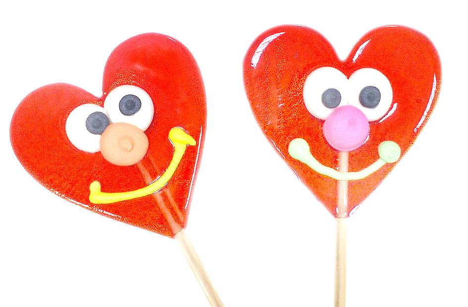 Леденец «Сердце с улыбкой» 25 гр  (28 шт. в упаковке)