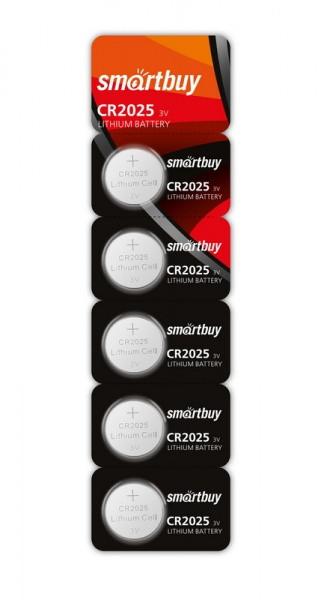 Батарейка литиевая Smartbuy CR2025-5BL